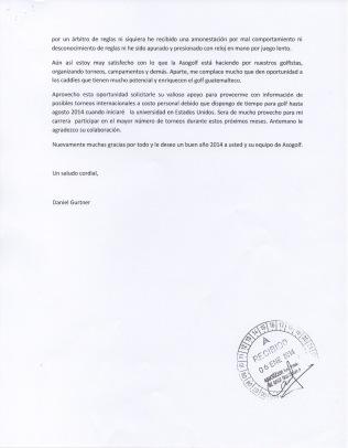Carta Daniel a ASOGOLF 02