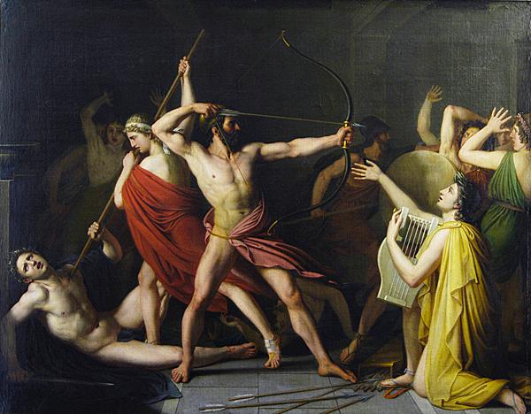 Ulises y Telémaco matando a los pretendientes de Penélope, 1812, Thomas Degeorge, Clermont-Ferrand, Musée d'art Roger Quilliot